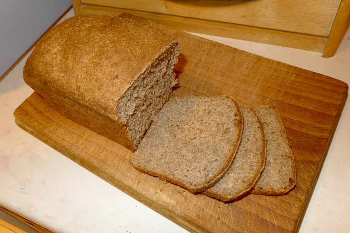 wholemeal loaf cut
