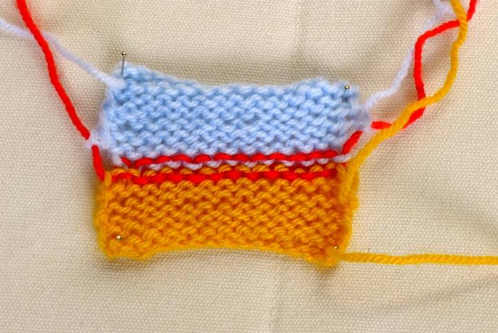Kitchener stitch back