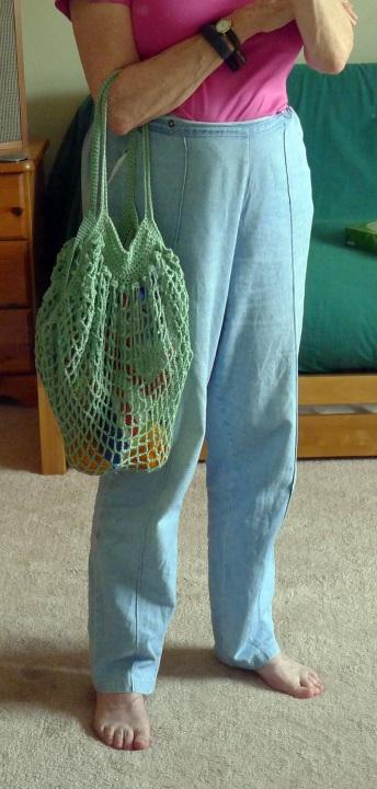 bag over arm
