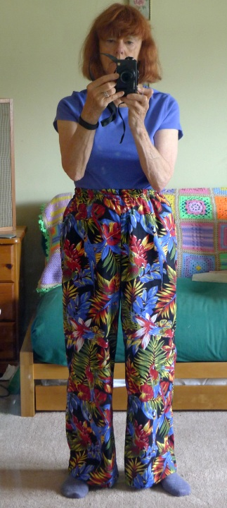 new trousers being worn
