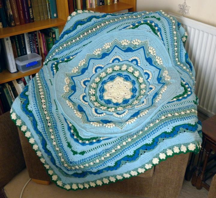 blanket on armchair