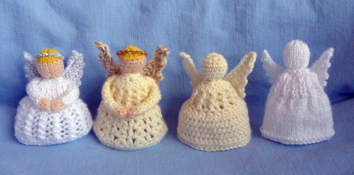 knitted and crochet angels
