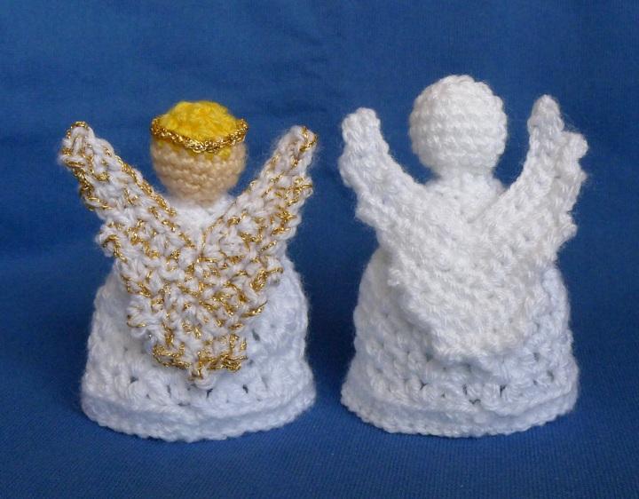 crochet angels back view