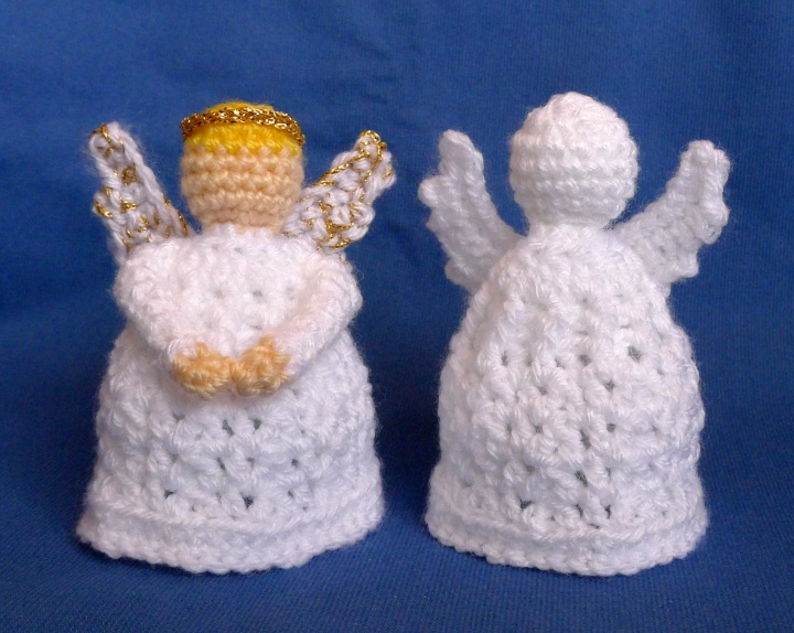 two crochet angels