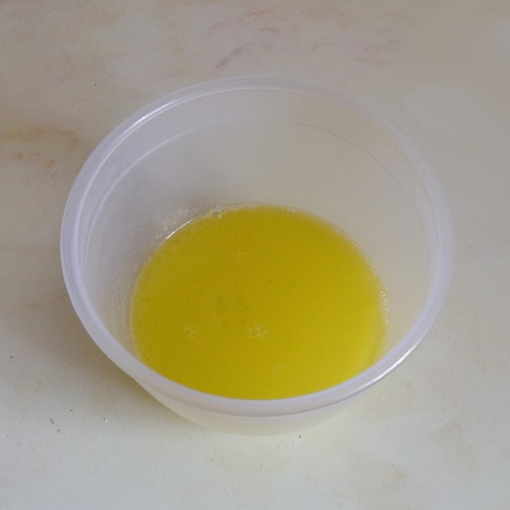butter and water mixed