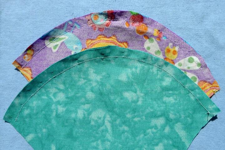 four pieces sewn