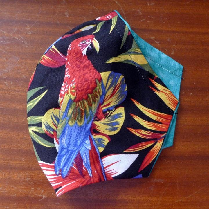 parrot on left side