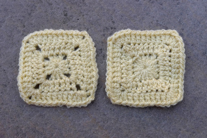 two different style squares
