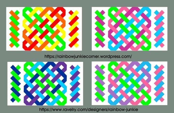 different colour combinations