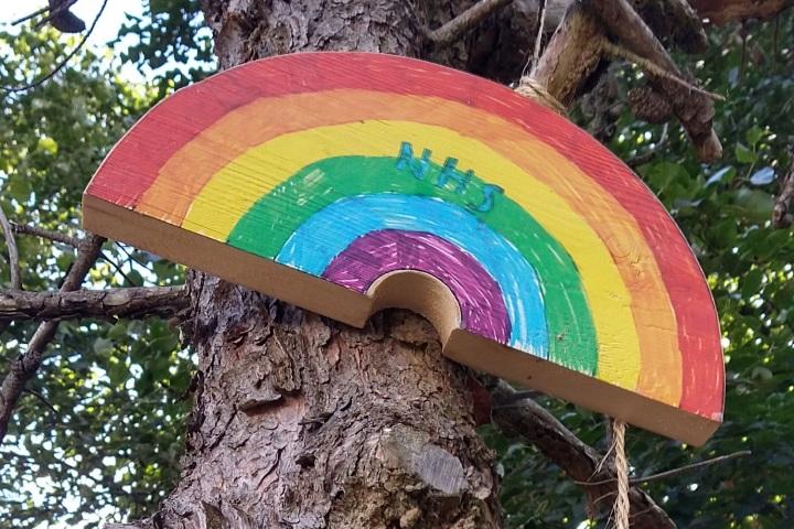 NHS on rainbow