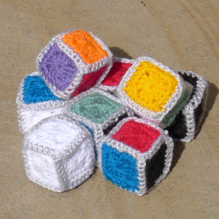 finished cubes piled up in a jumble