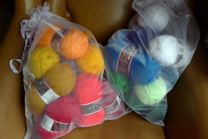 bags of yarn