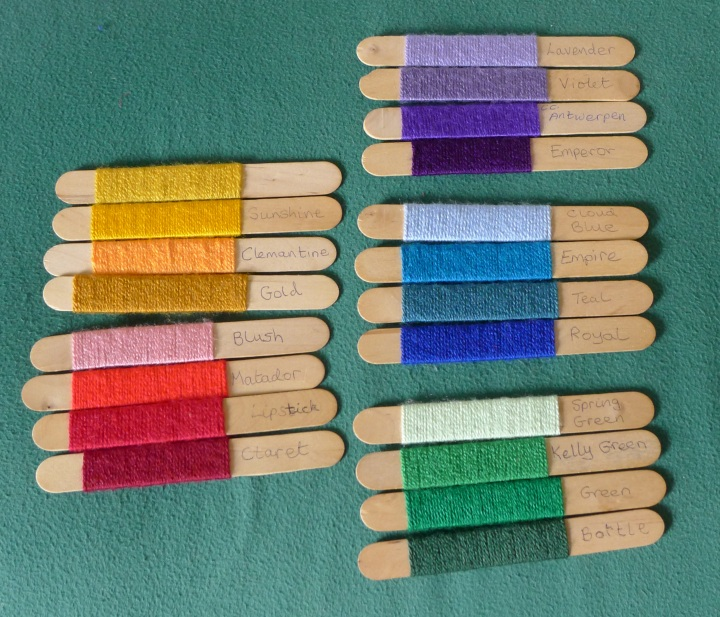 chosen colours