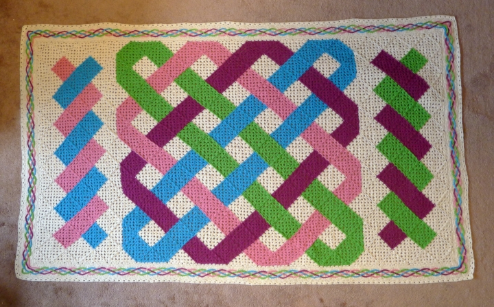 woven border completed