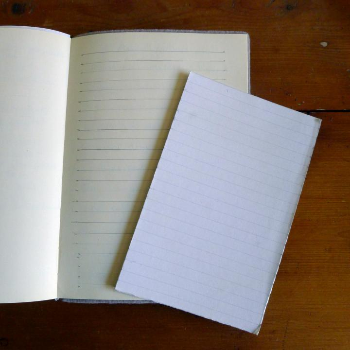 drawn lines in book