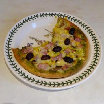 previous pizza on plate