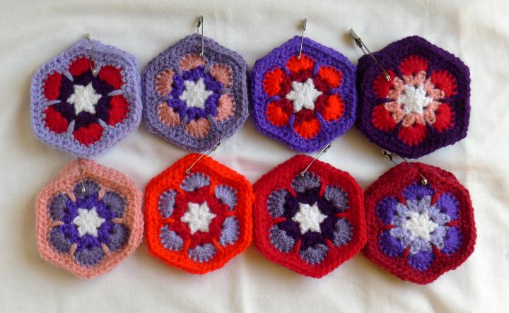 red/purple hexagons sets pinned