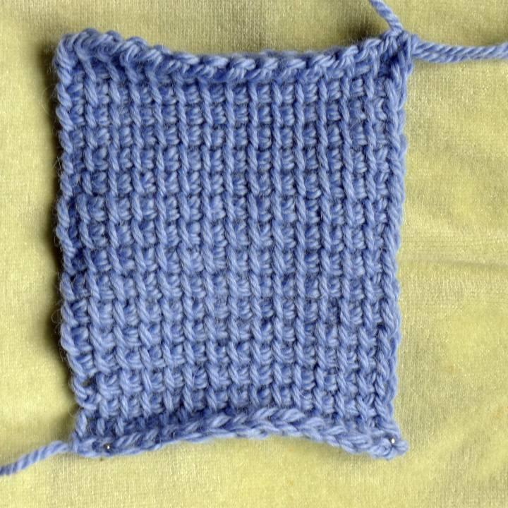Tunisian simple stich in Aran yarn