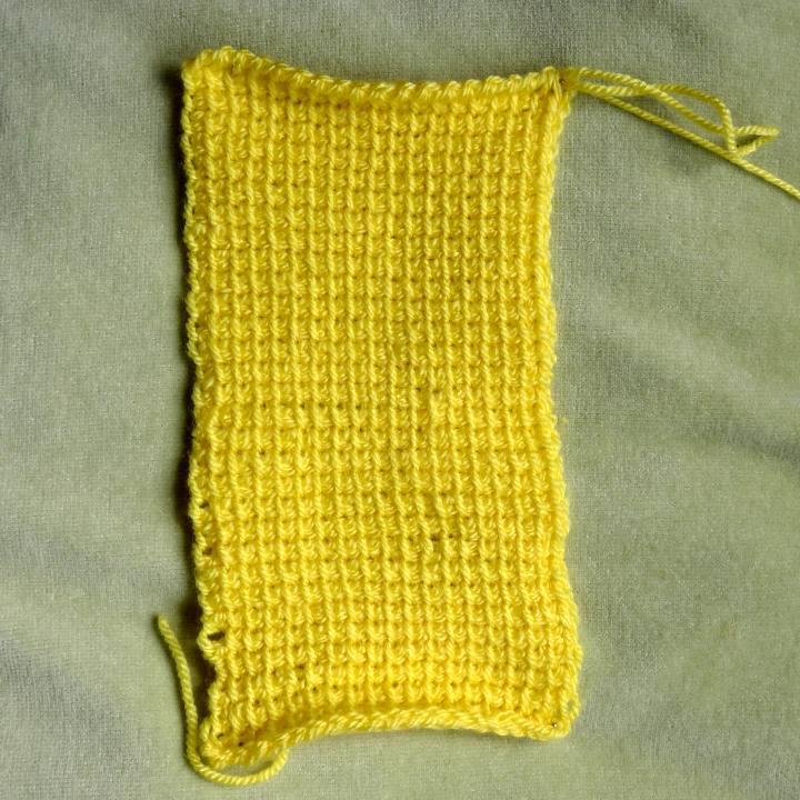 Tunisian simple stich in DK yarn