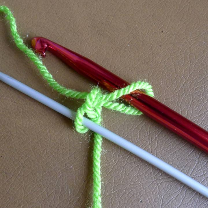 needle in back loop