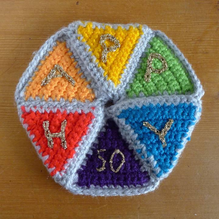 birthday hexaflexagon