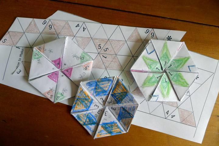 paper hexa-hexaflexagons