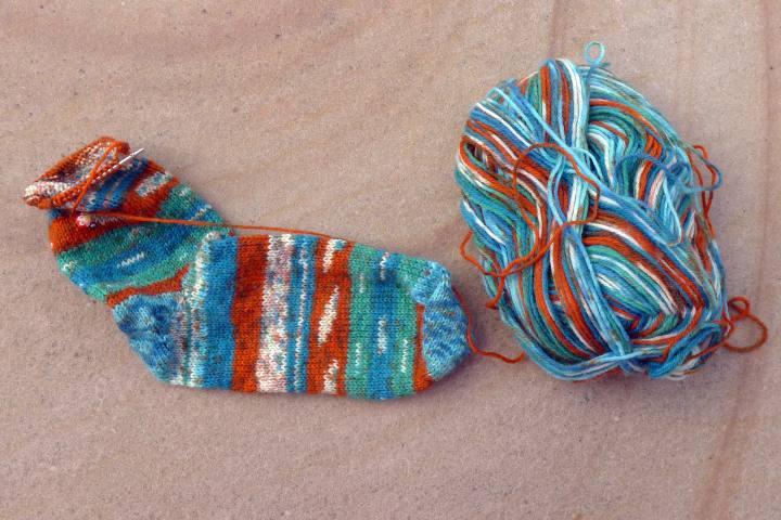 sock and yarn